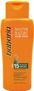 Babaria Aloe Vera Sun Milk Factor 15 200ml | Mia Beauty Ltd